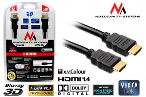 Kabel HDMI Maclean MCTV-524 FullHD 1.4 GOLD 3.0 m