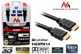 Kabel HDMI Maclean MCTV-524 FullHD 1.4 GOLD 1.8 m