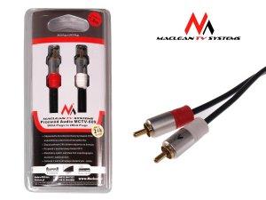Przedód 2xRCA - 2xRCA 1.8m Maclean MCTV-609